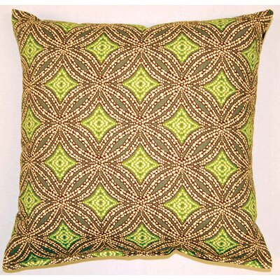 Sun Swirl Knife Edge Cotton Throw Pillow Color: Stone