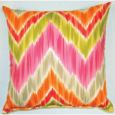 Tribal Find Knife Edge Cotton Throw Pillow Color: Fruity