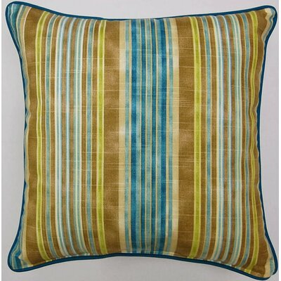 One Way Corded Cotton Throw Pillow Color: Lagoon
