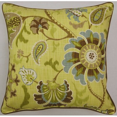 Siren Song Corded Cotton Throw Pillow Color: Spa
