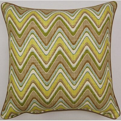 Sand Art Corded Cotton Throw Pillow Color: Spa