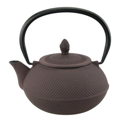 Creative Home Kyusu 0.94-qt Cast Iron Teapot - Color: Brown