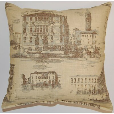 Grand Canal Cotton Throw Pillow