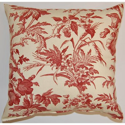Clara Woodrose Cotton Throw Pillow Color: Woodrose