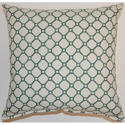 Arignote Cotton Throw Pillow Color: Turquoise