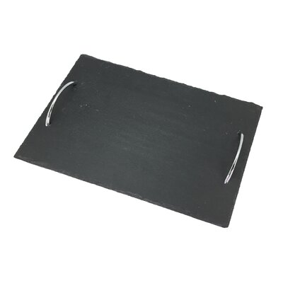 Slate Rectangular Tray with Handles