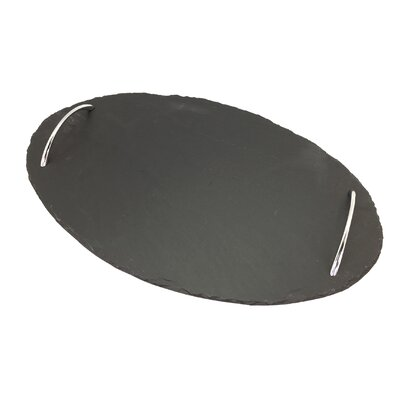 Slate Oval Tray with Handles