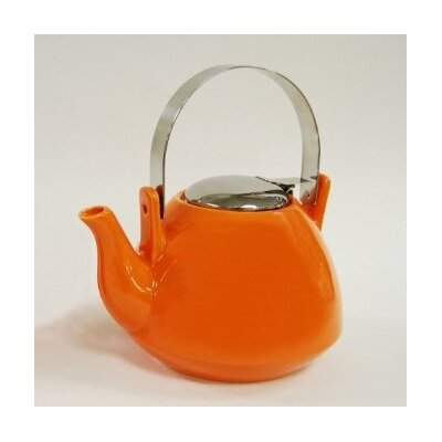 Creative Home 36oz Teapot with Infuser in Orange