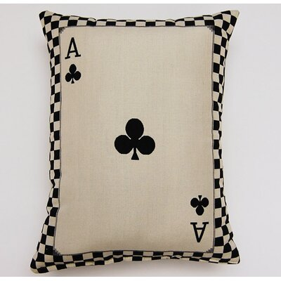 Ace of Clubs Parchment Cotton Lumbar Pillow