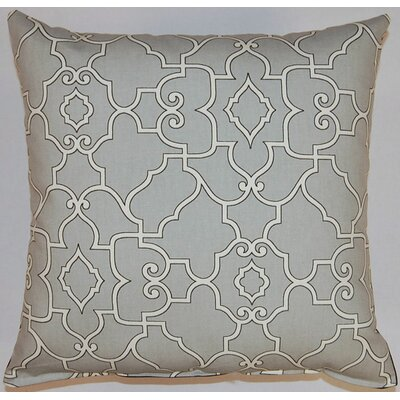 Maher Cotton Throw Pillow Color: Sterling