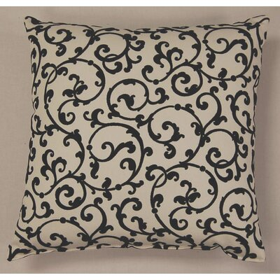 Julia Ebony Cotton Throw Pillow