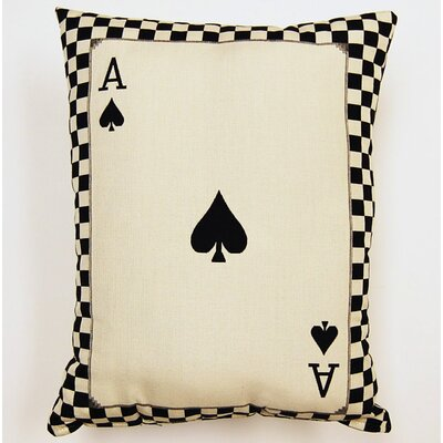 Ace of Spades Parchment Cotton Lumbar Pillow