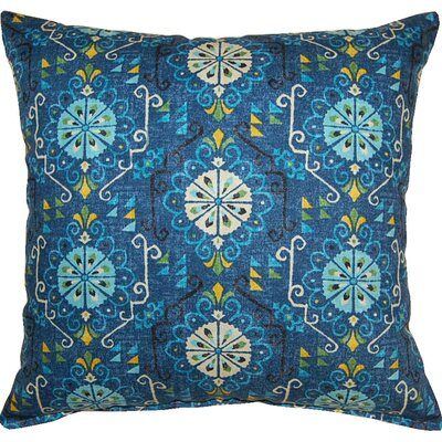 Summer Rain Indigo Cotton Throw Pillow