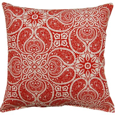 Tibi Cotton Throw Pillow Color: Cayenne