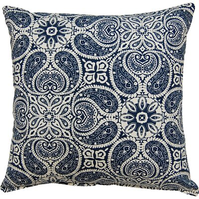 Tibi Cotton Throw Pillow Color: Navy
