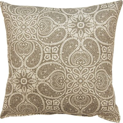 Dacia 100% Cotton Throw Pillow Color: Slate