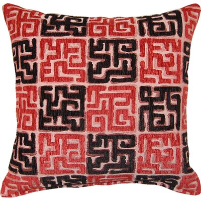 Zamora Throw Pillow Color: Red