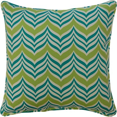 Ripple Effect Throw Pillow Color: Seaspray