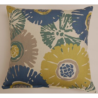 Starburst KE 100% Cotton Throw Pillow Color: Ocean