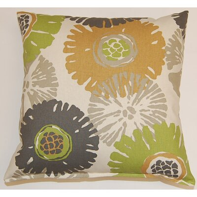 Starburst KE 100% Cotton Throw Pillow Color: Slate