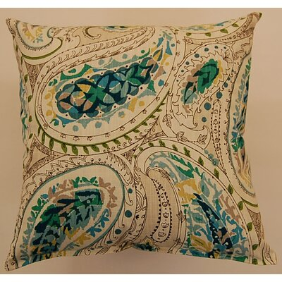 Cotton Throw Pillow Color: Peacock