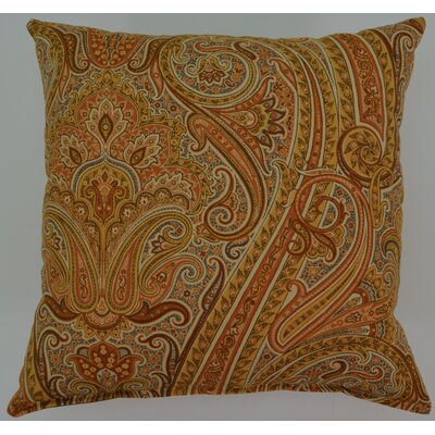 Timeless Paisley Cotton Throw Pillow