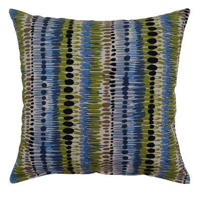 Brush Strokes Cotton Throw Pillow Color: Bluebird