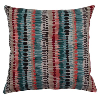 Brush Strokes Cotton Throw Pillow Color: Turquoise