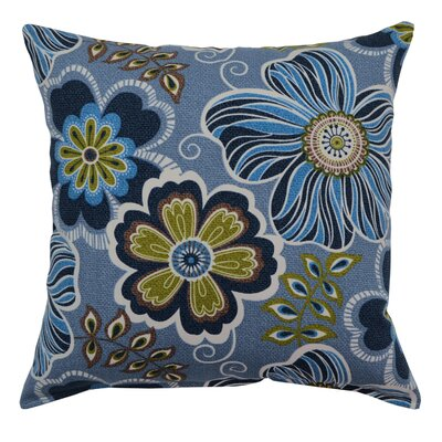 Joy Cotton Throw Pillow Color: Bluebird