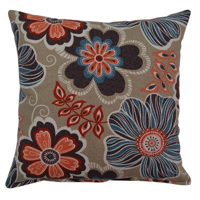 Joy Cotton Throw Pillow Color: Turquoise