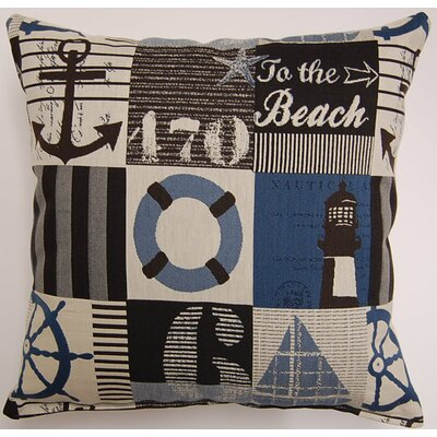Harbortown Cadet Throw Pillow Color: Cadet