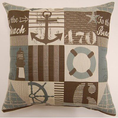 Harbortown Cadet Throw Pillow Color: Seafoam