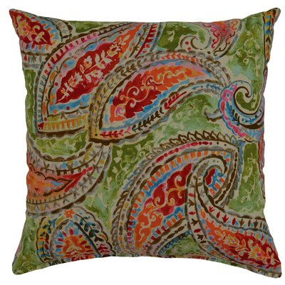Bright and Lively Cotton Throw Pillow Color: Fiesta