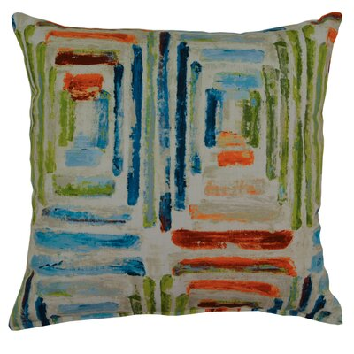 Atlantis Cotton Throw Pillow Color: Blue/Green