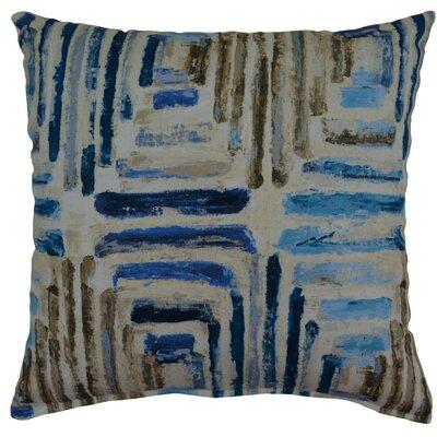 Atlantis Cotton Throw Pillow Color: Blue/Brown
