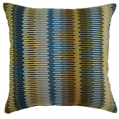 Aquinto Throw Pillow Color: Blue/Brown