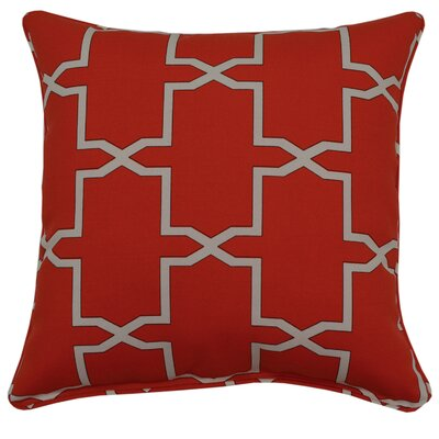 Emsworth Throw Pillow Color: Firecracker