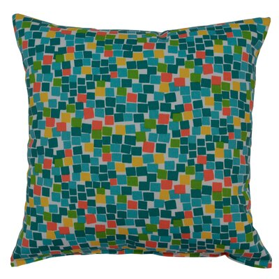 Cubix Throw Pillow Color: Lagoon