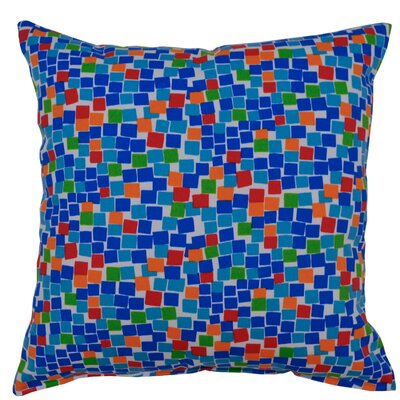 Cubix Throw Pillow Color: Sapphire