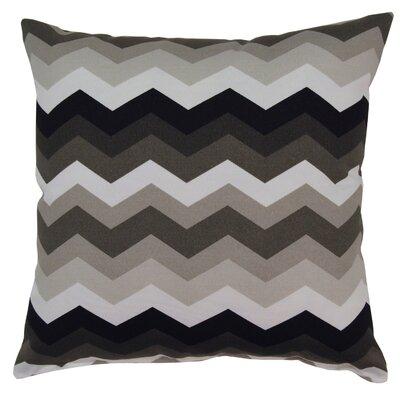 Panama Wave Outdoor Throw Pillow Color: Licorice