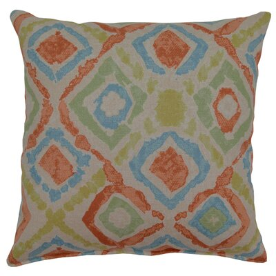 Baywatch Throw Pillow Color: Orange/Blue