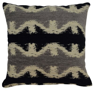 Geo Jack Throw Pillow Color: Black