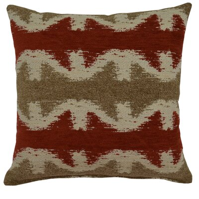 Geo Jack Throw Pillow Color: Spice