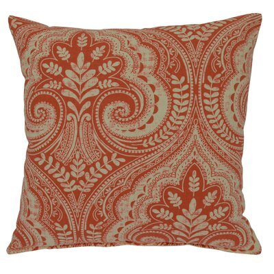 Wheeling Cotton Throw Pillow Color: Terracotta