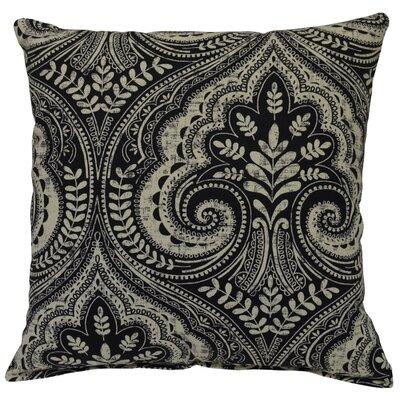 Wheeling Cotton Throw Pillow Color: Raven