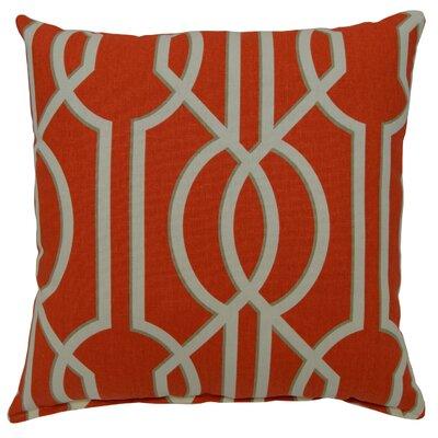 Deco Cotton Throw Pillow Color: Poppy
