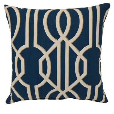 Deco Cotton Throw Pillow Color: Navy