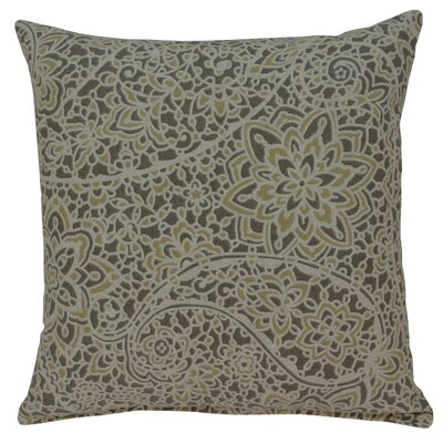 Stella Cotton Throw Pillow Color: Pewter