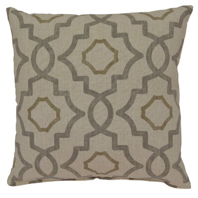 Talbot Cotton Throw Pillow Color: Metal
