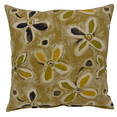 Alhambra Linen Throw Pillow Color: Graphite